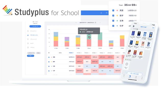 学習管理システム「Study plus」で、学習内容や時間を管理